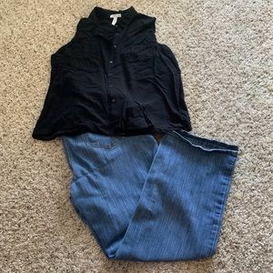 Motherhood maternity plus size jeans 1x